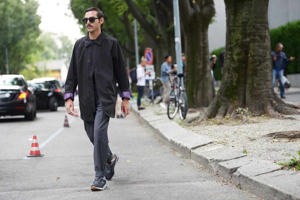 Milan Fashion Week 2015 streetstyle total black