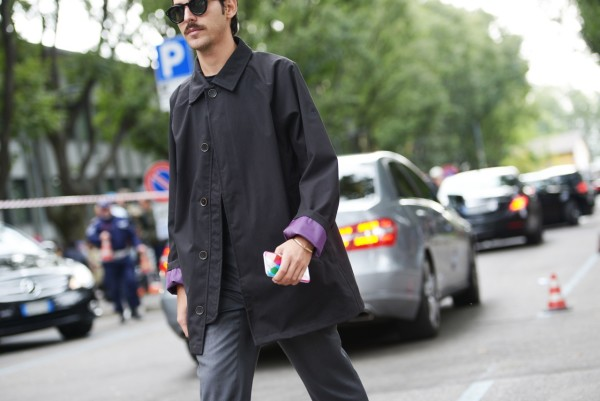 Milan Fashion Week 2015 streetstyle total black