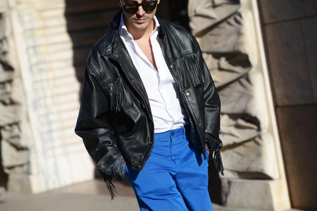 Milano Moda Uomo day 1: Una giacca con le frange - Roberto De Rosa