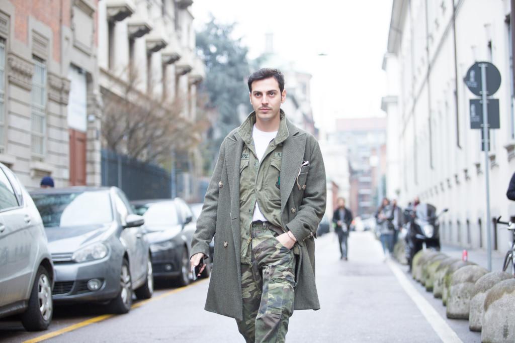 Stile militare da uomo: pantaloni mimetici & MFW day 1