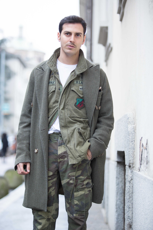 spesso Stile militare da uomo: pantaloni mimetici & MFW day 1 - DECISIONS  UI77
