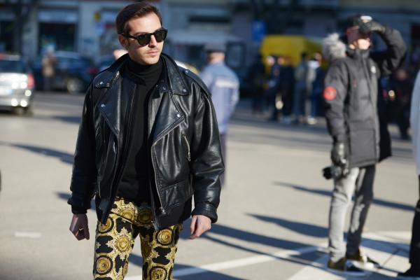 Roberto De Rosa streetstyle Giacca biker in pelle