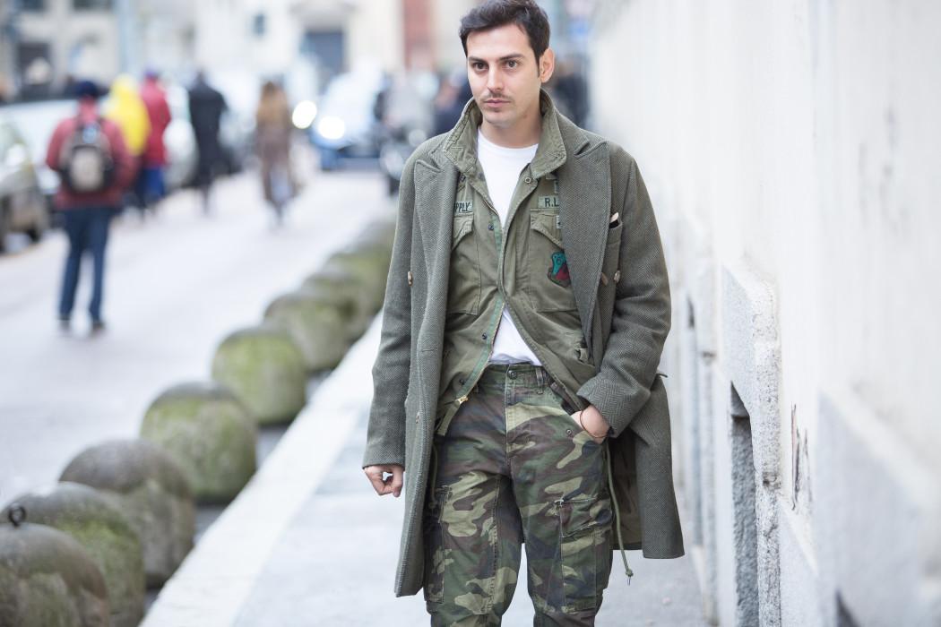 Super Stile militare da uomo: pantaloni mimetici & MFW day 1 - DECISIONS  BD72